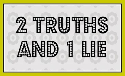 2 Truths 1 lie online team building